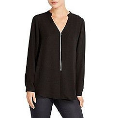 Wallis - Zip front shirt