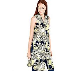 Wallis - Paisley print longline shirt