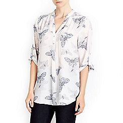 Wallis - Shadow butterfly print shirt