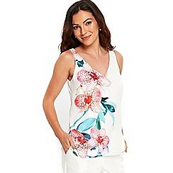 Wallis - Ivory floral orchid camisole