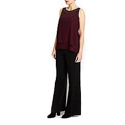 Wallis - Purple double layer embellished top