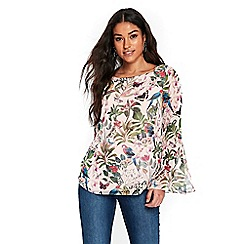 Wallis - Stone bird print top