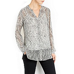 Wallis - Monochrome zig zag shirt