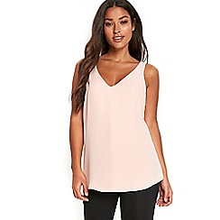 Wallis - Pale pink v-neck camisole top