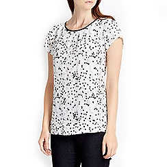 Wallis - Monochrome printed shell top