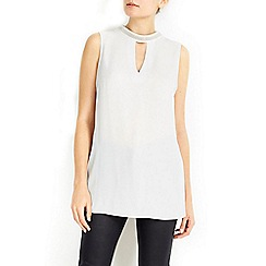 Wallis - Embellished high neck longline tunic