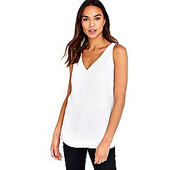 Wallis - Cream v-neck camisole top
