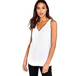Wallis - Cream v-neck camisole top