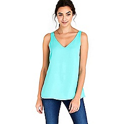 Wallis - Jade green v neck cami top