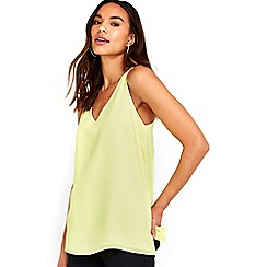 Wallis - Lime green v neck cami