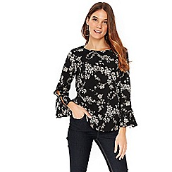 Wallis - Foil floral top
