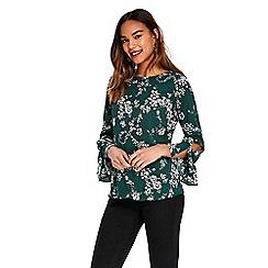 Wallis - Foil floral top