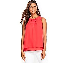 Wallis - Red sleevless top
