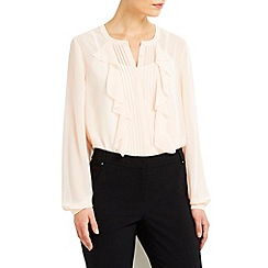 Wallis - Pink ruffle blouse