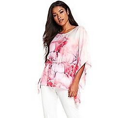 Wallis - Pink floral kaftan