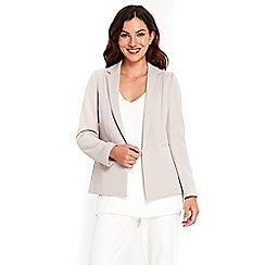 Wallis - Stone ribbed soft blazer jacket