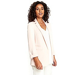 Wallis - Blush ribbed soft blazer jacket