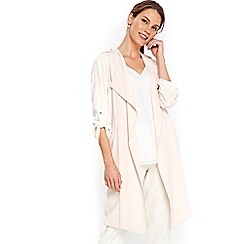 Wallis - Blush longline jacket