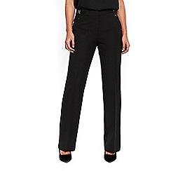 Wallis - Black bootcut bar trim trousers