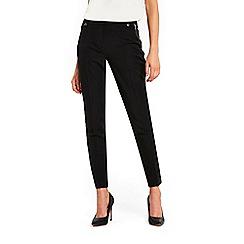Wallis - Black tapered zip pocket trousers