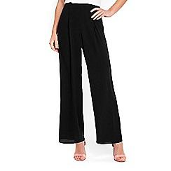 Wallis - Black soft wide leg trousers