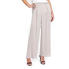 Wallis - Silver soft wide leg trousers