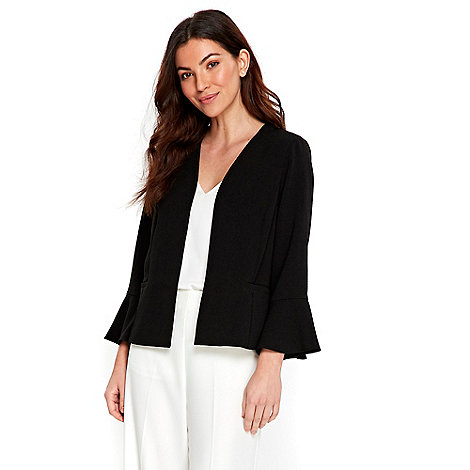 Wallis Black flute sleeves jacket | Debenhams