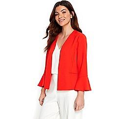 Wallis - Orange flute sleeves jacket