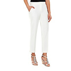 Wallis - Ivory luxe slim trousers