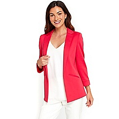 Wallis - Pink plain soft blazer jacket