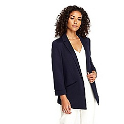 Wallis - Navy plain soft blazer
