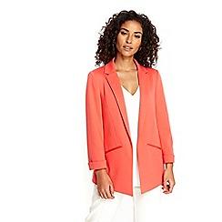 Wallis - Coral plain soft blazer jacket