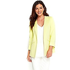 Wallis - Lemon plain soft blazer jacket