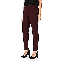 Wallis - Berry satin back crepe trousers