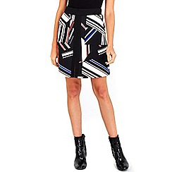 Wallis - Multicoloured colour block a-line skirt
