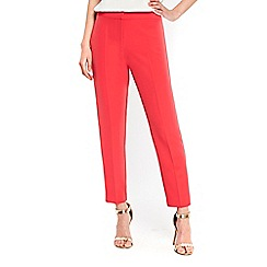 Wallis - Coral crepe cigarette trousers