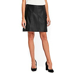 Wallis - Black aline skirt