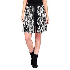 Wallis - Mono zigzag jacquard skirt
