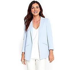 Wallis - Pale blue textured blazer