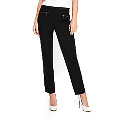 Wallis - Black zip pocket slim leg trousers