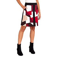 Wallis - Geometric printed skirt