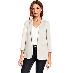 Wallis - Stone ribbed jacket