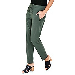 Wallis - Khaki formal joggers