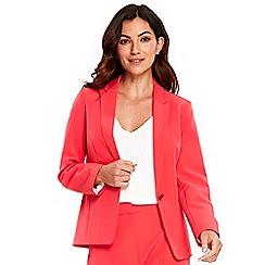 Wallis - Coral crepe blazer jacket