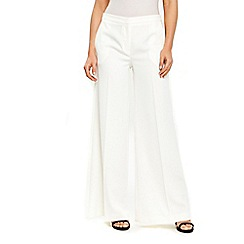Wallis - Ivory wide leg trousers