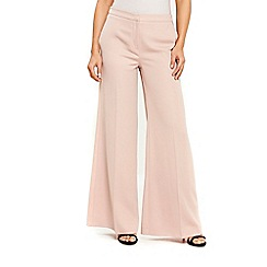 Wallis - Nude wide leg trousers