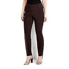 Wallis - Chocolate side zip trouser