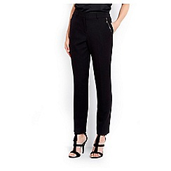 Wallis - Black zip slim leg trouser