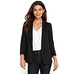 Wallis - Black ribbed jacket