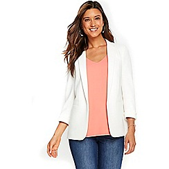 Wallis - Ivory ribbed jacket
